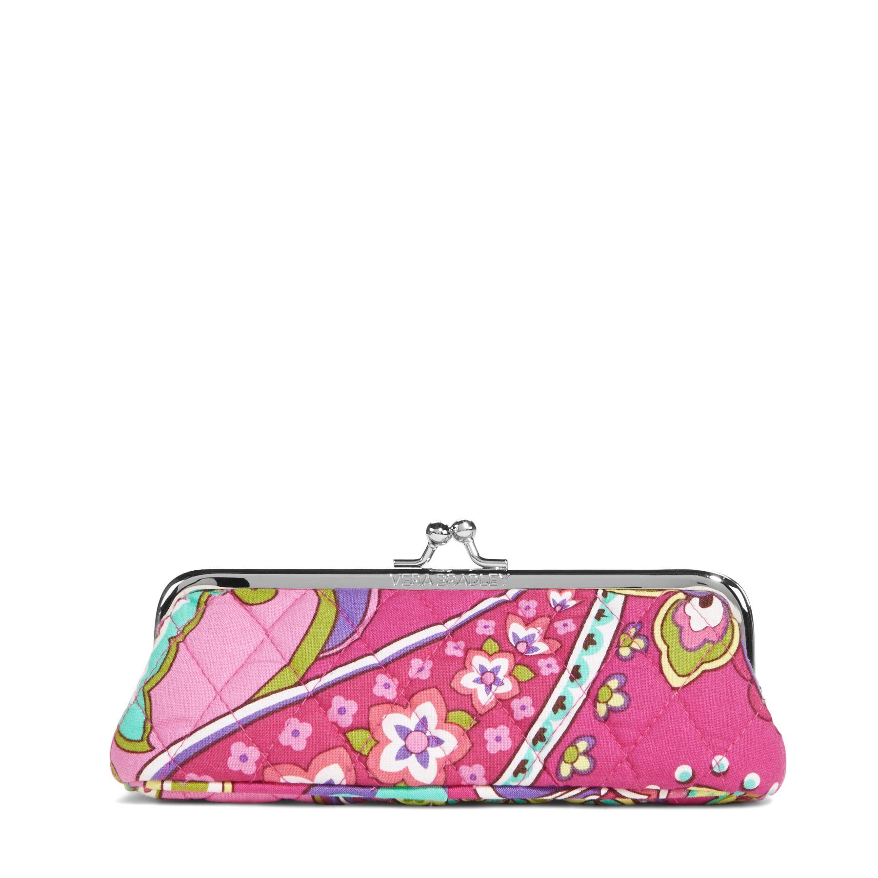 Vera Bradley Kisslock Case in Pink Swirls