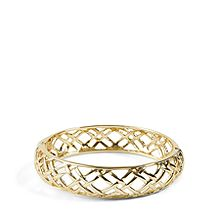 Thick Quilted Bangle Bracelet
