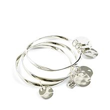 Triple Coin Bangle Bracelets