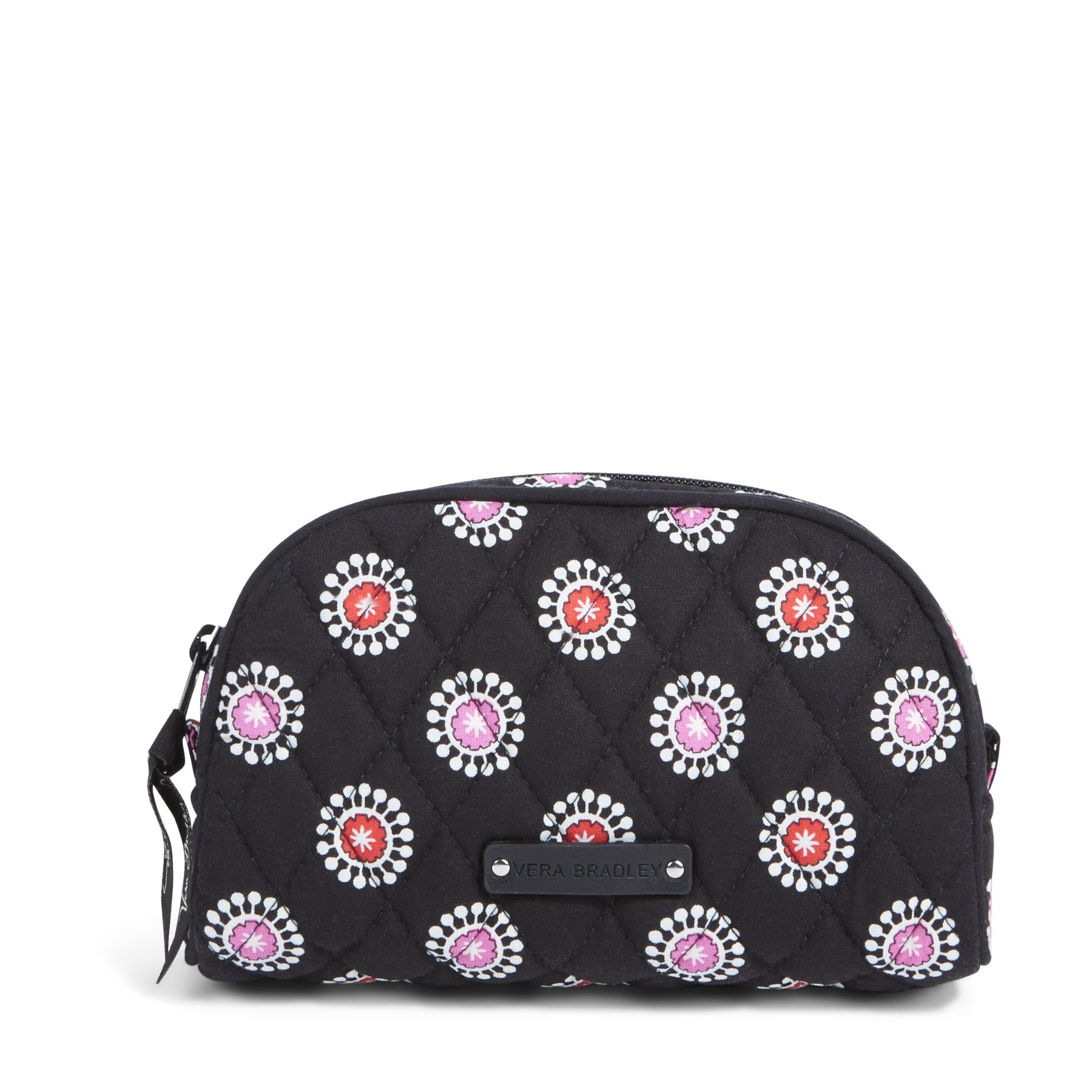 Vera Bradley Small Zip Cosmetic Bag in Parisian Pom Poms