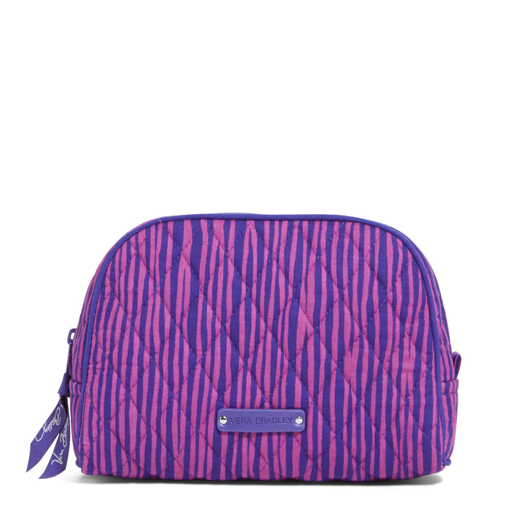 Vera Bradley Medium Zip Cosmetic Bag in Impressionista Stripe