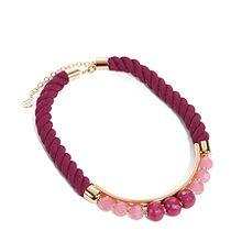Semi-Precious Short Rope Necklace