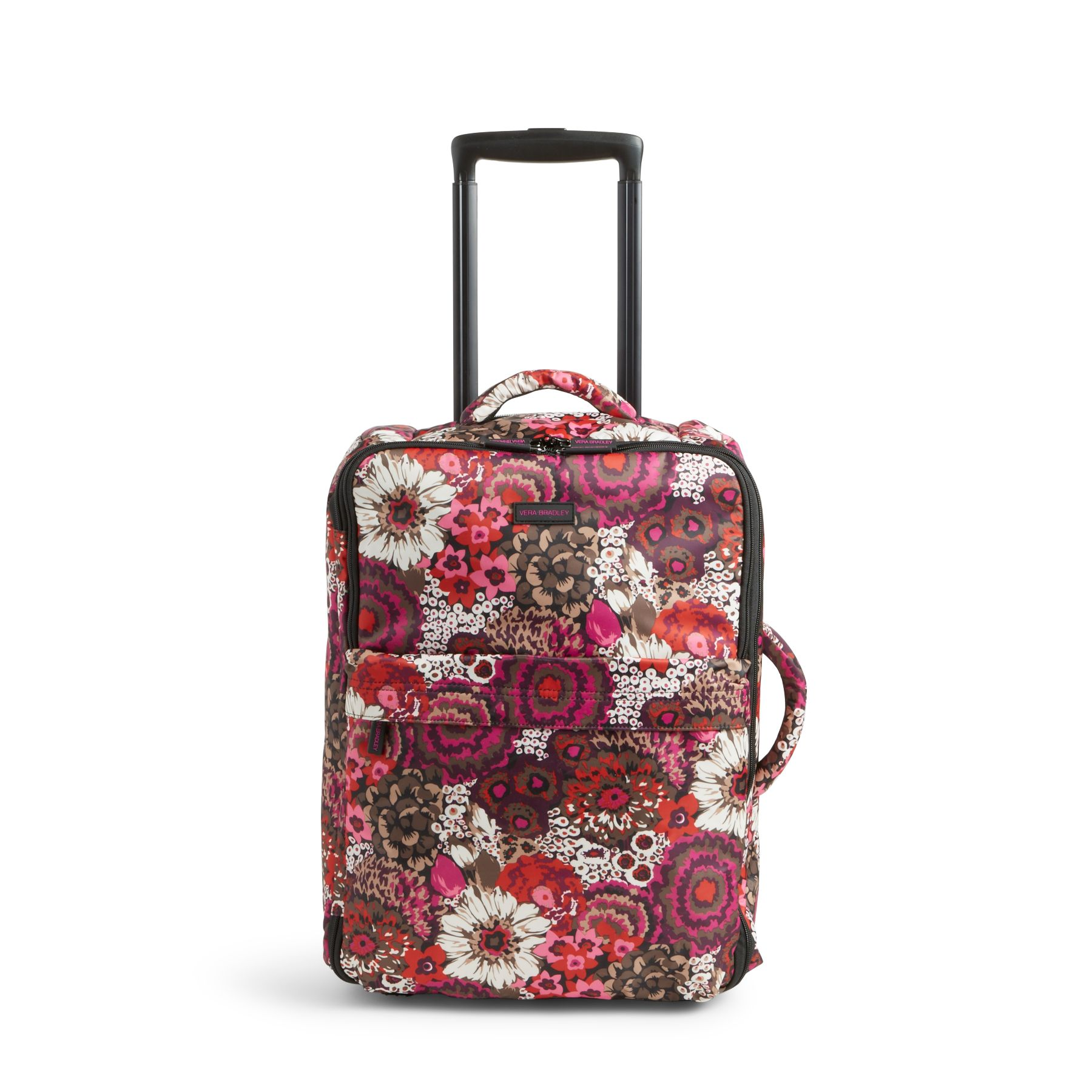 Vera Bradley Small Foldable Roller Luggage in Rosewood