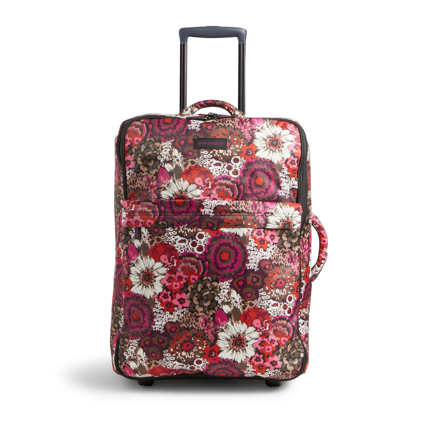 Vera Bradley Large Foldable Roller Luggage in Rosewood