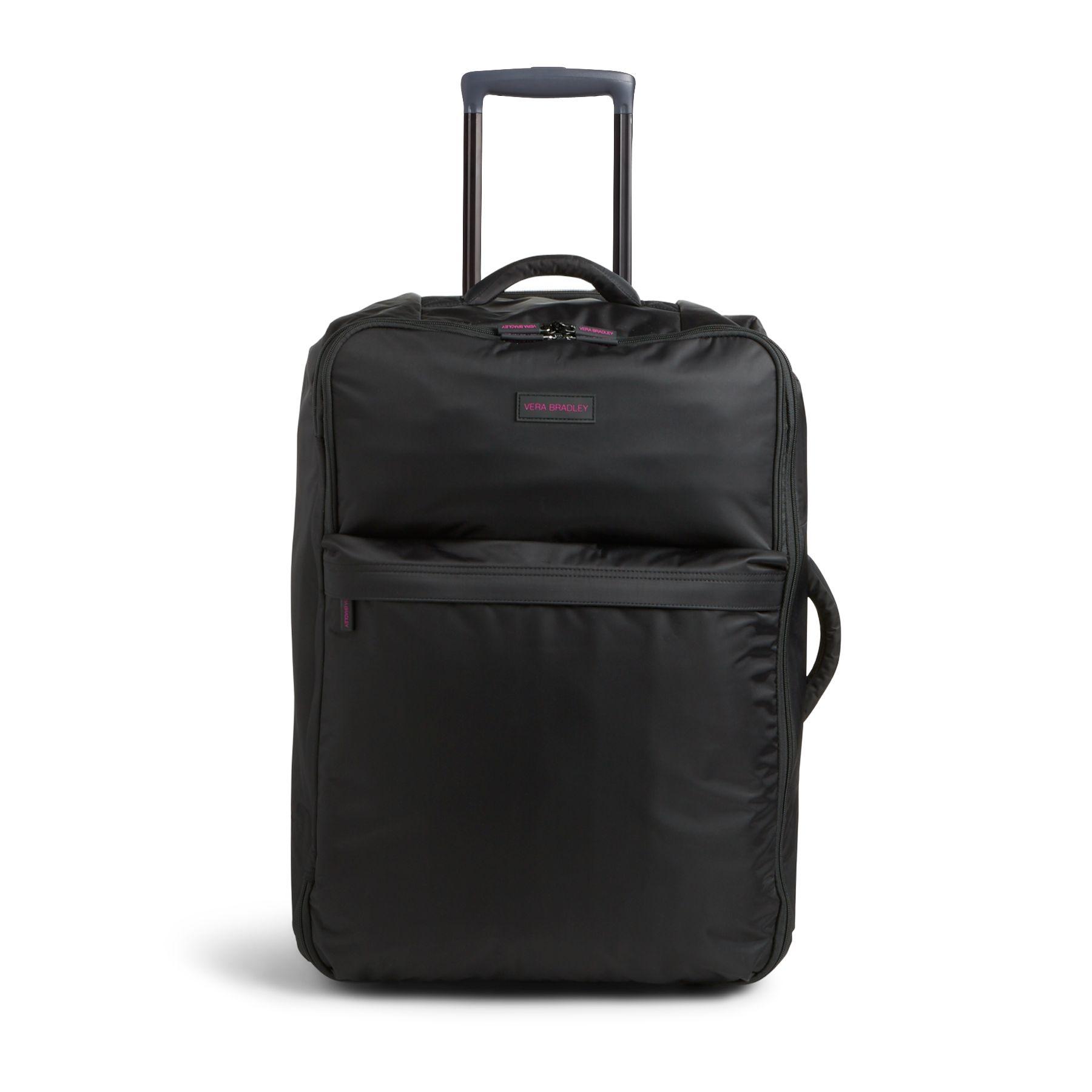 Vera Bradley Large Foldable Roller Luggage in Black