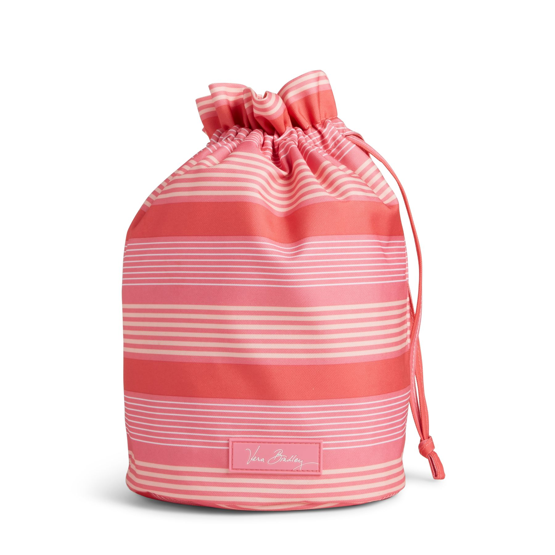 Vera Bradley Lighten Up Ditty Bag in Pink Tonal Stripe