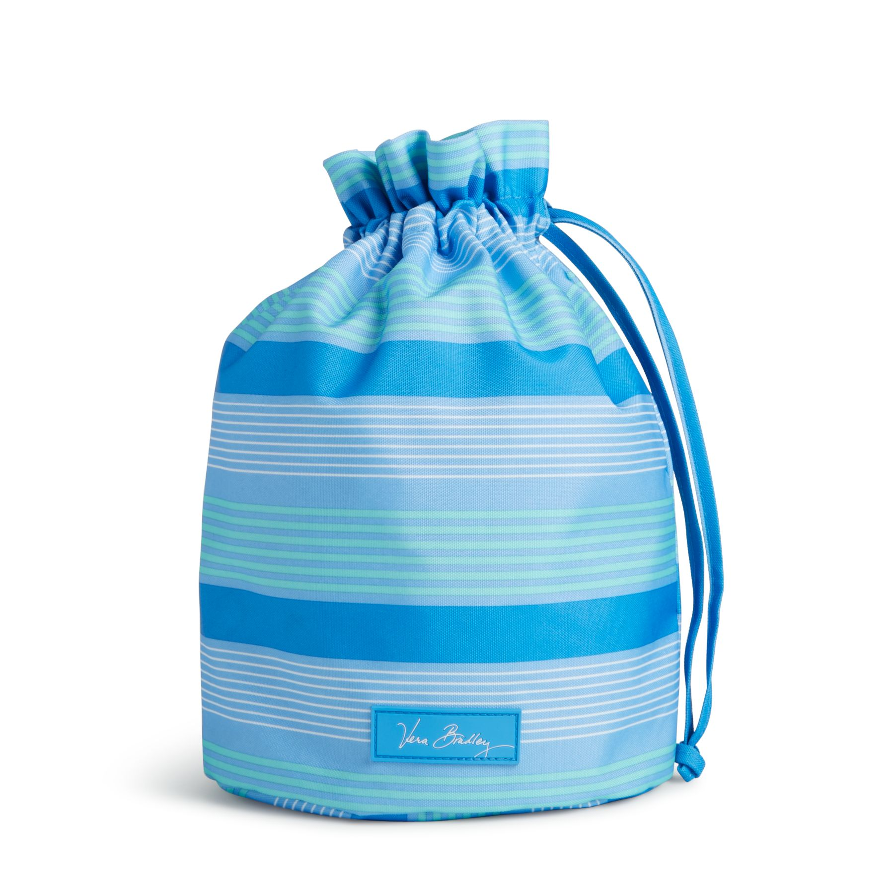Vera Bradley Lighten Up Ditty Bag in Blue Tonal Stripe