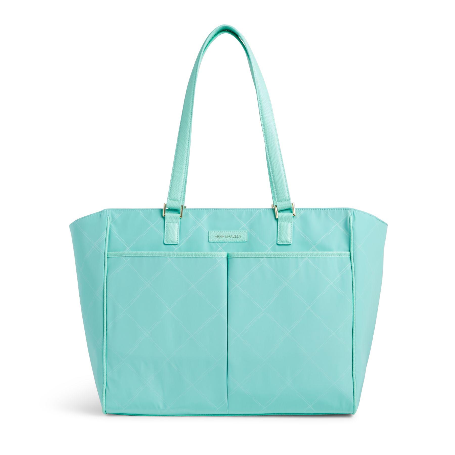 Vera Bradley Preppy Poly Uptown Baby Bag in Mint