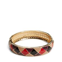 Enamel Check Bracelet