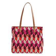 Preppy Poly Zip Top Tote