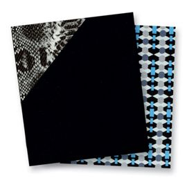 Northbrook Black with Python Print