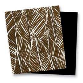 Banana Leaves Brown with Black