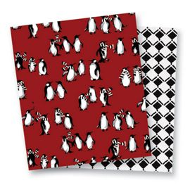 Playful Penguins Red