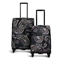 Spinner Luggage Set Paisley Petals