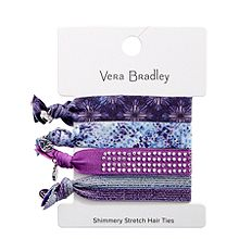 Shimmery Stretch Hair Ties