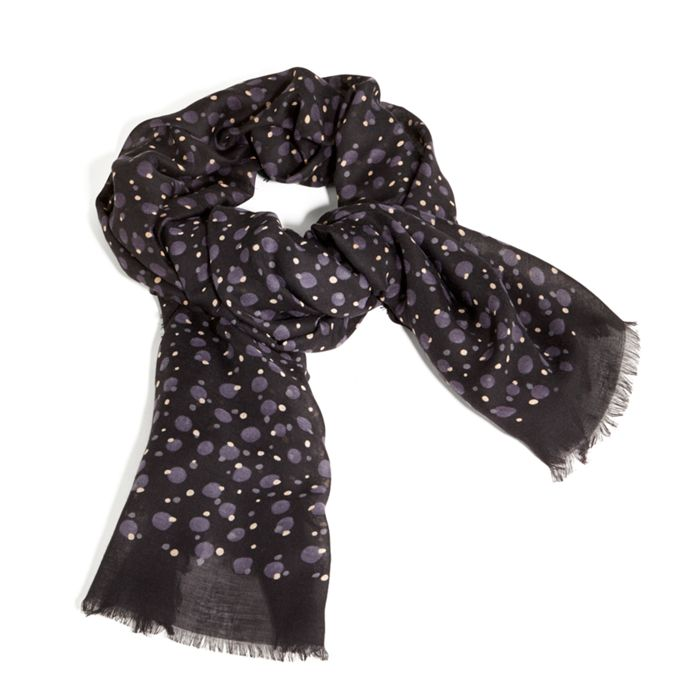 Image of Printed Poly Scarf in Concerto Dots