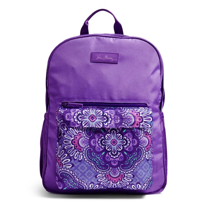 Image of Large Colorblock Backpack in Lilac Tapestry