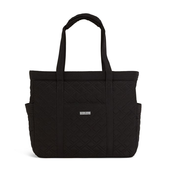 Image Of Get Carried Away Tote In Microfiber Classic Black