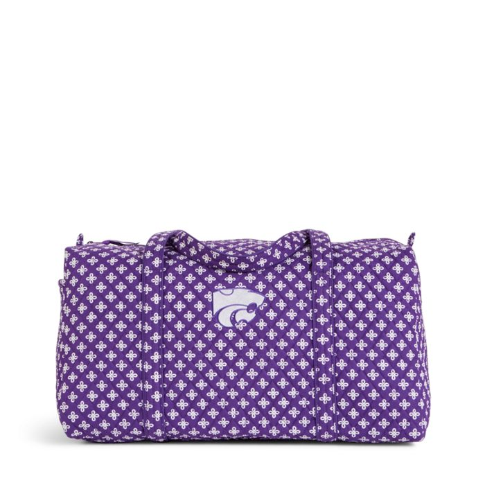 Image Of Collegiate Large Duffel Travel Bag In Purple White Mini Concerto With Kansas State