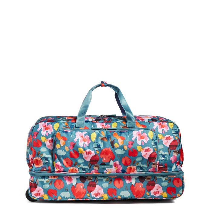 Image Of Large Wheeled Duffel Bag In Tered Superbloom