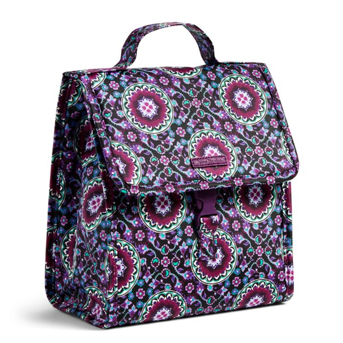 Image Of Lunch Sack In Lilac Medallion