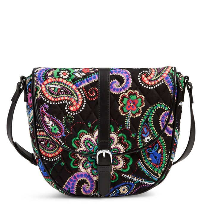 Image of Slim Saddle Bag in Kiev Paisley