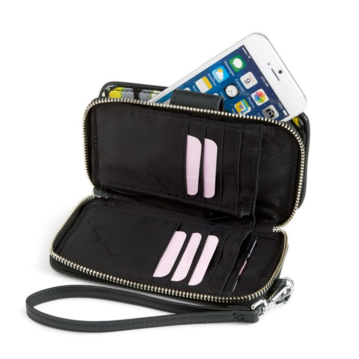 Vera Bradley RFID Smartphone Wristlet (Charcoal) Wristlet Handbags iuFur