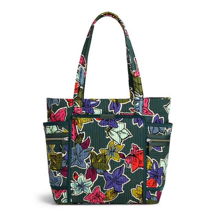 Image of Iconic Deluxe Vera Tote in Falling Flowers