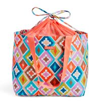 Drawstring Family Tote in Hacienda Diamonds