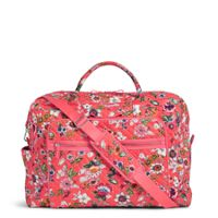 Iconic Grand Weekender Travel Bag in Coral Floral