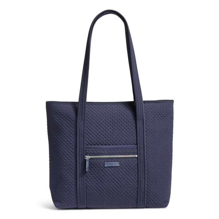 Image Of Iconic Vera Tote In Microfiber Classic Navy
