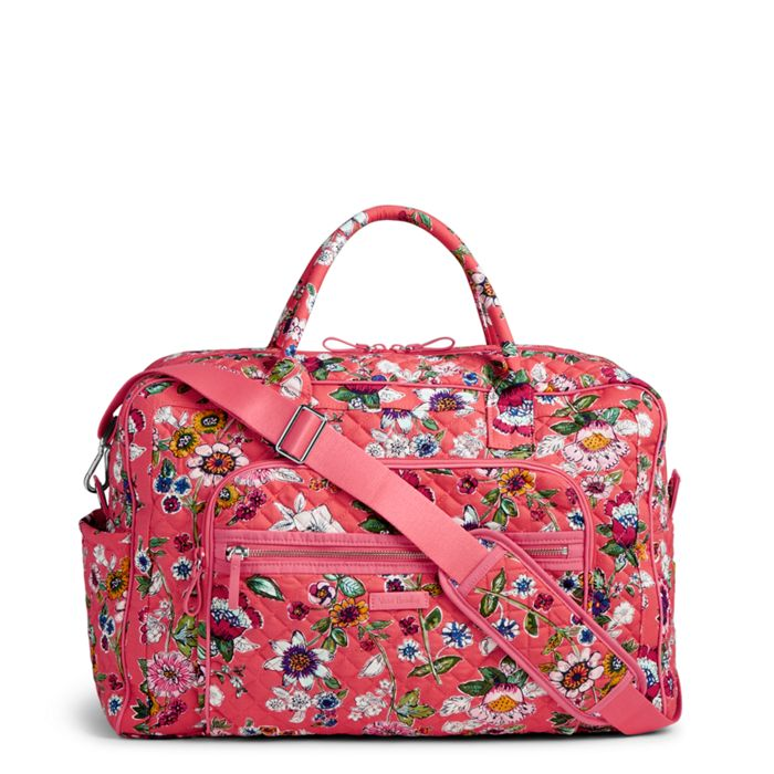 Vera Bradley Iconic Miller Travel Bag (Coral Floral) Luggage WCQtoND1YD