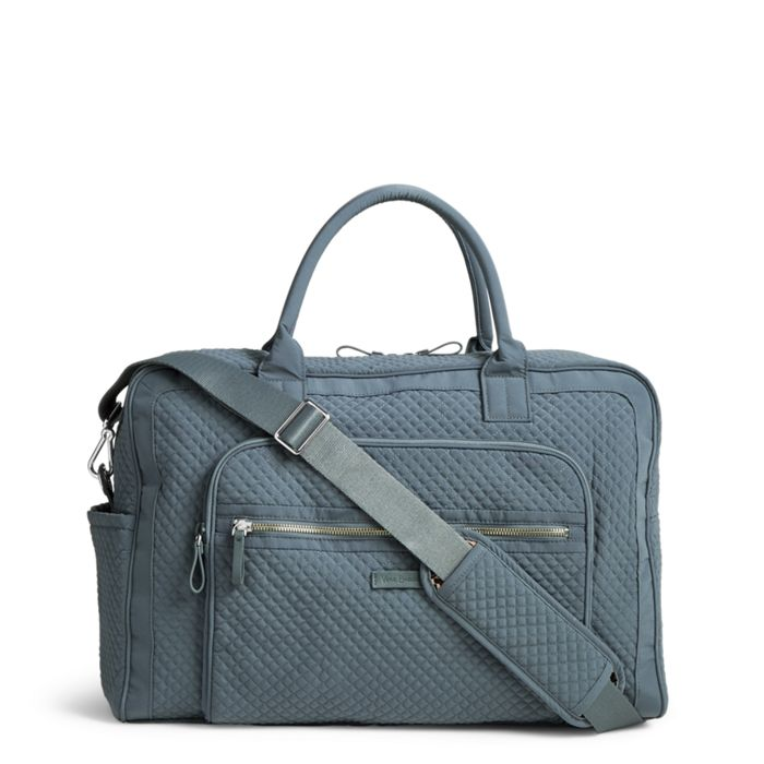 Image Of Iconic Weekender Travel Bag In Microfiber Charcoal