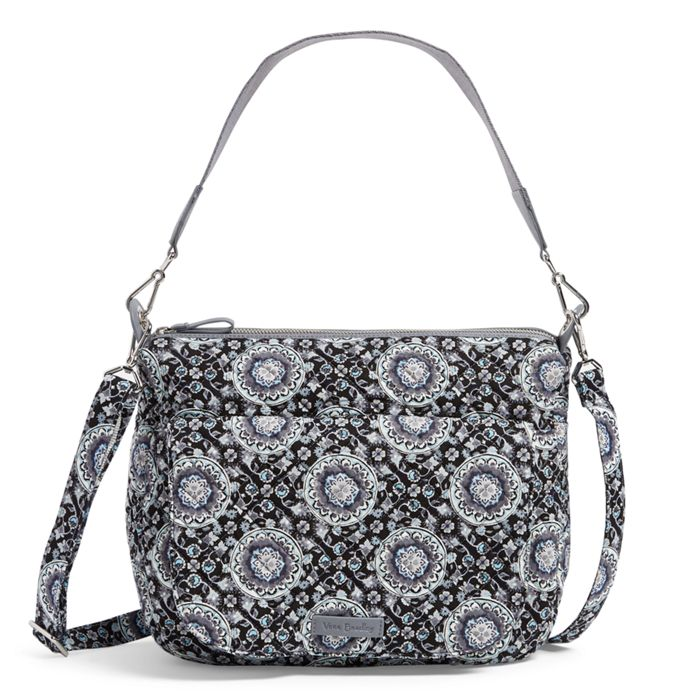 Image of Carson Shoulder Bag in Charcoal Medallion