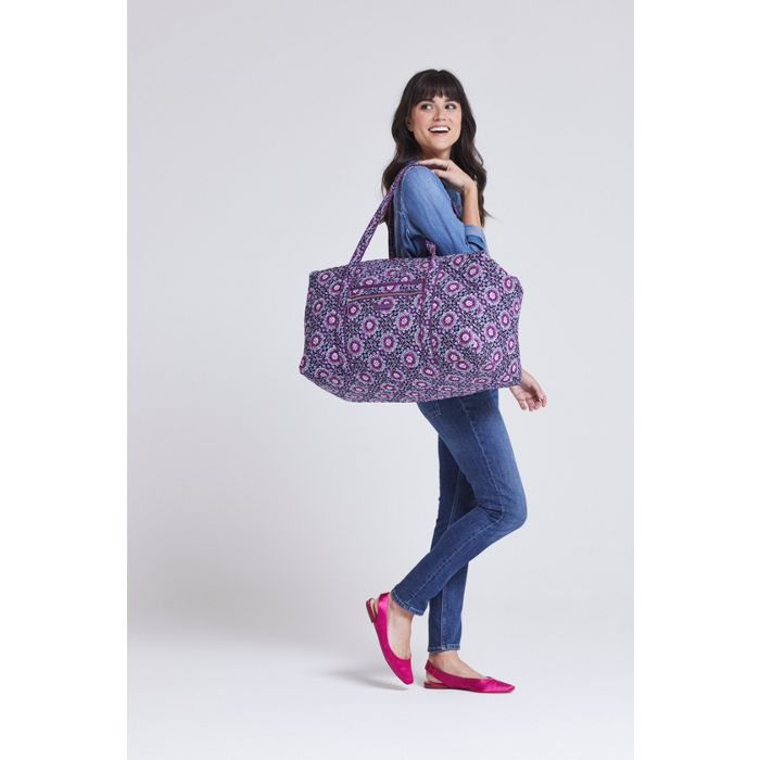 Image Of Iconic Large Travel Duffel In Lilac Medallion