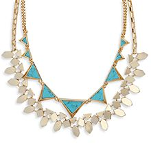 Triangle Double Statement Necklace