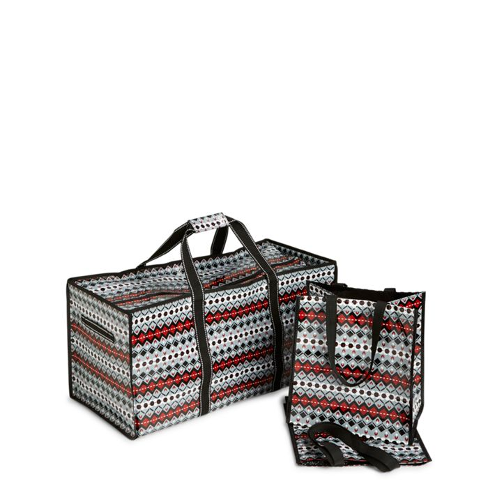 Image of Foldable Trunk Organizer in Penguins Intarsia