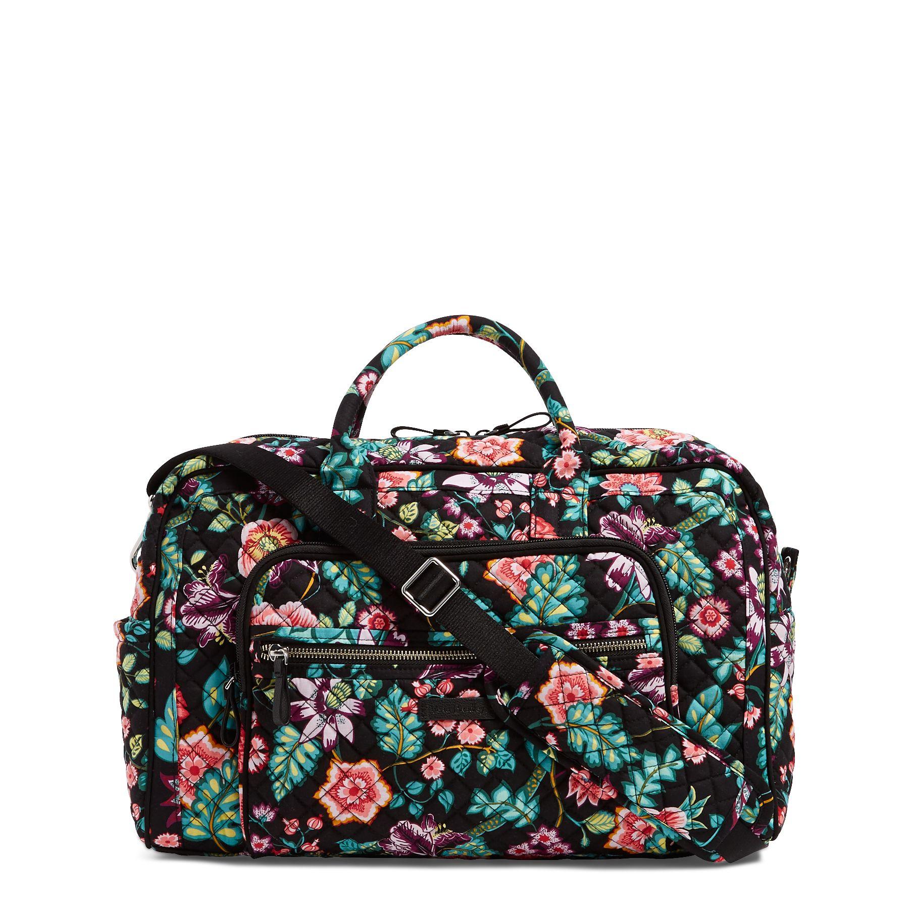 Iconic Compact Weekender Travel Bag Vera Bradley The 6 In 1 Secret Pouch Organiser Bgo 15
