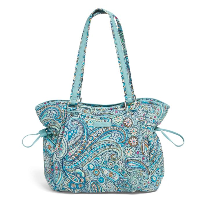 Image Of Iconic Glenna Satchel In Daisy Dot Paisley