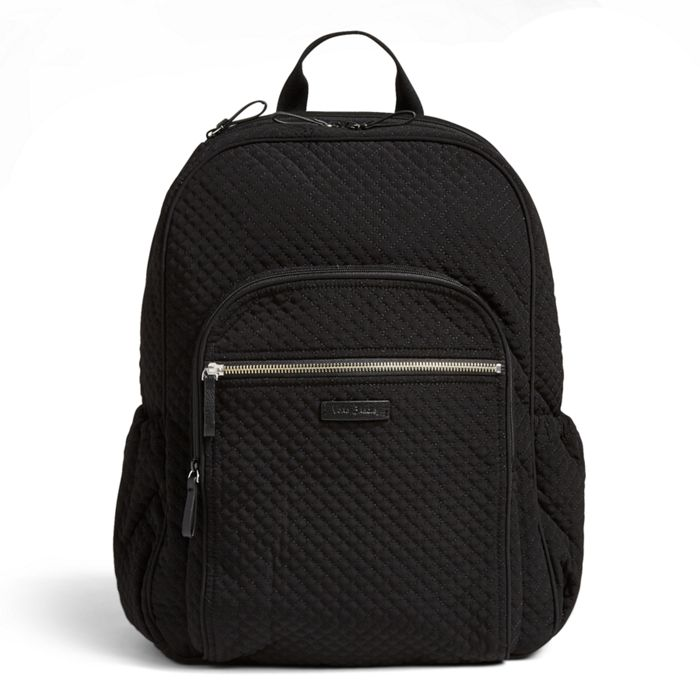 Image Of Iconic Campus Backpack In Microfiber Clic Black