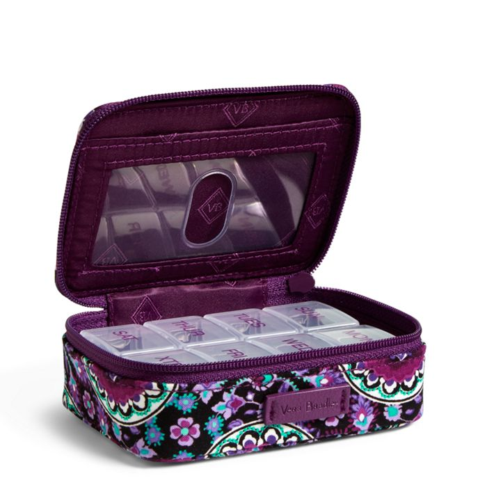 Image Of Iconic Travel Pill Case In Lilac Medallion