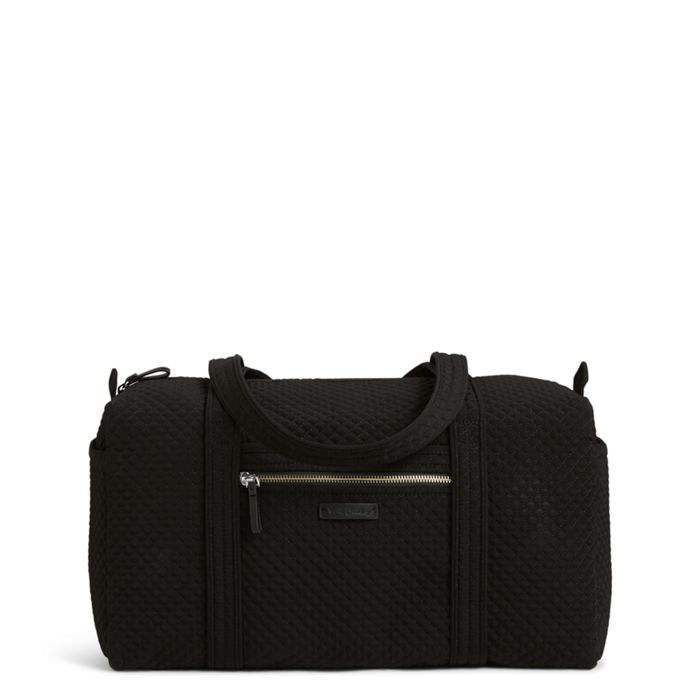 Image Of Iconic Small Duffel In Microfiber Classic Black