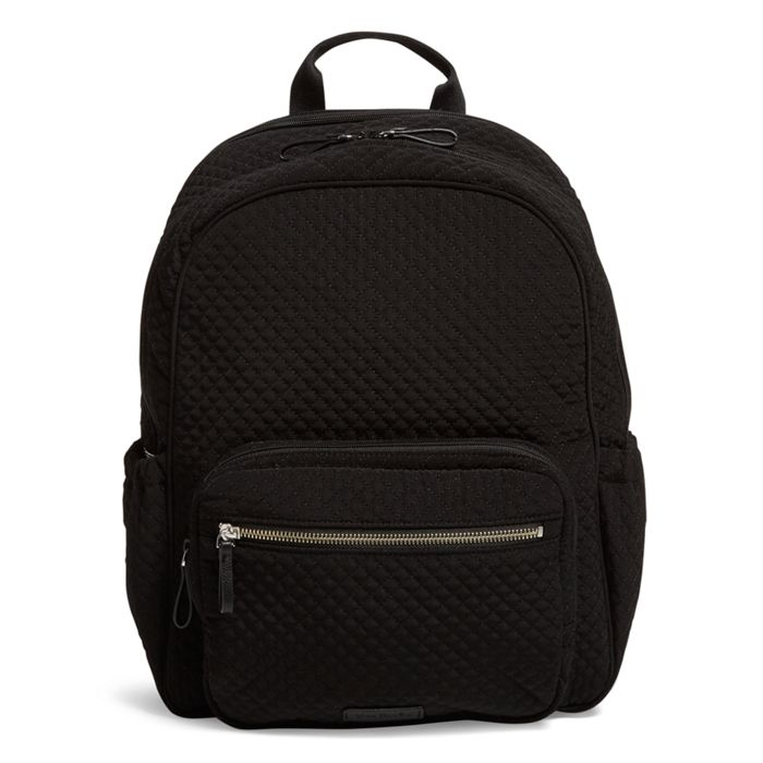 Image Of Iconic Backpack Diaper Bag In Microfiber Classic Black