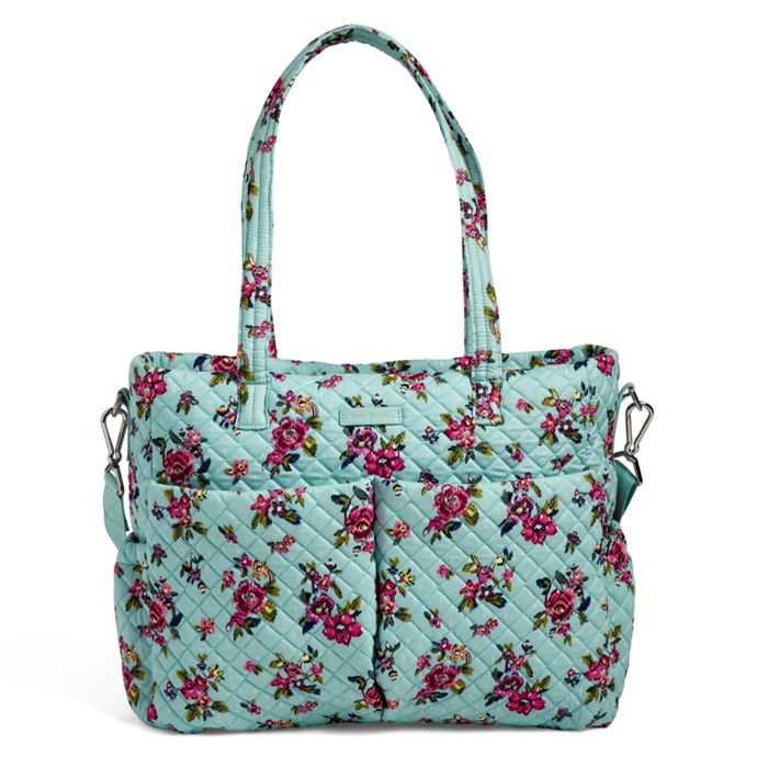 Image Of Iconic Ultimate Diaper Bag In Water Bouquet