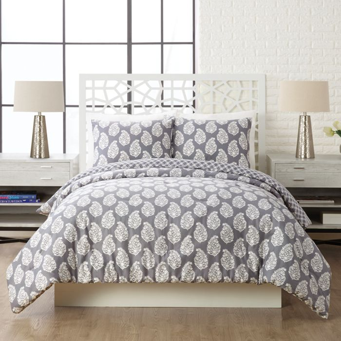 Image Of Shadow Comforter Mini Set Twin Xl In Northern Lights Gray