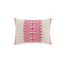 Satin Stitch Embroidered Pillow