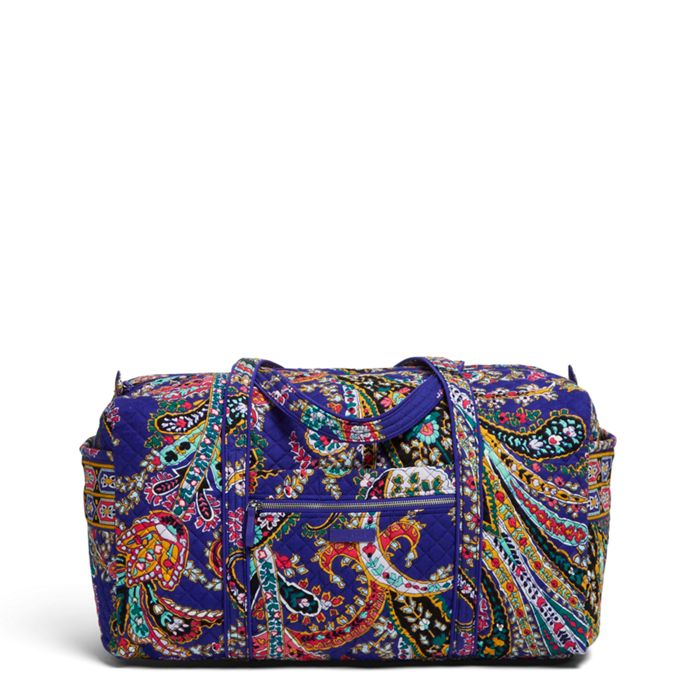 Image of Iconic Large Travel Duffel in Romantic Paisley