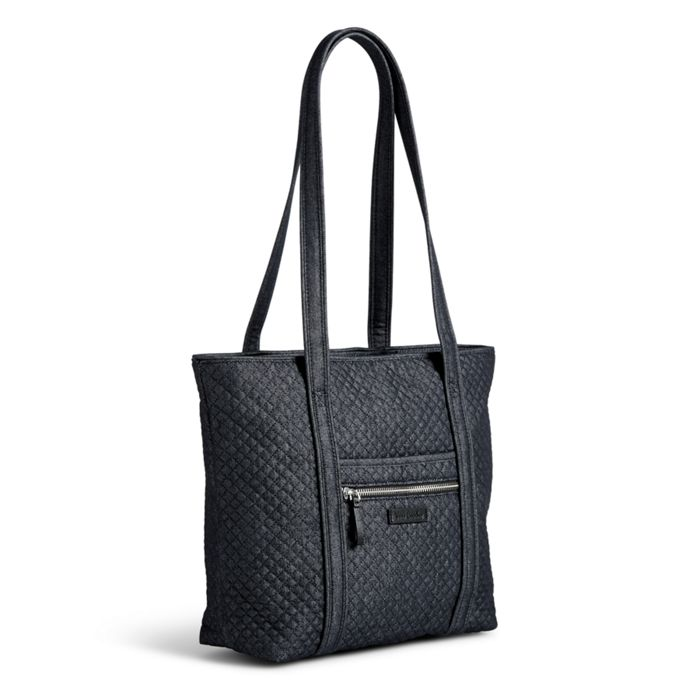 Image Of Iconic Small Vera Tote In Denim Navy