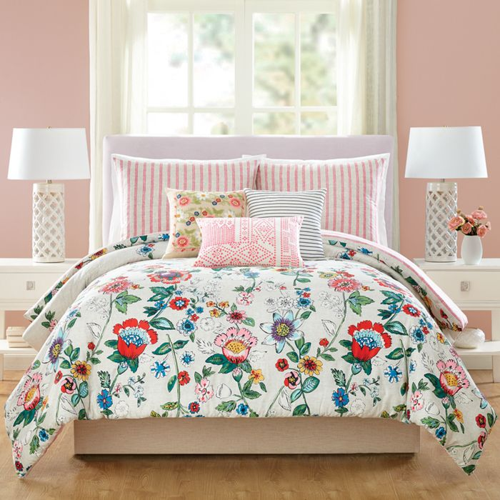 comforter coral park madison piece gray sleeping the bath barn cotton sets percale vanessa set product bedding hills