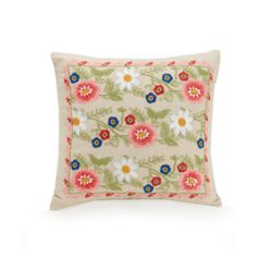 Coral Floral Pillow by Vera Bradley